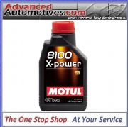 Motul 8100 X-Power 10w-60 High Performance Engine Oil 100% Synthetic 1 Litre